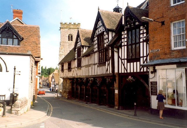 The Guildhall in Much Wenlock by Humphrey Bolton
